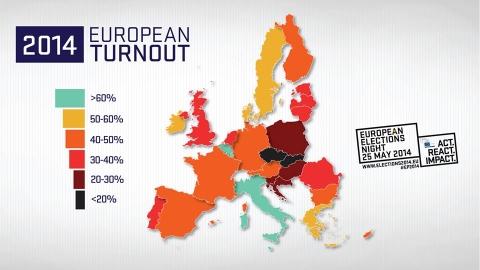 volební účast při volbách do Evropského parlamentu 2014