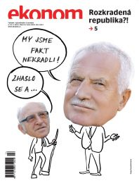 titulní strana týdeníku Ekonom č. 14, čtvrtek 4.4.2013