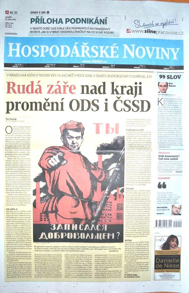 Hospodářské noviny 15. října 2012