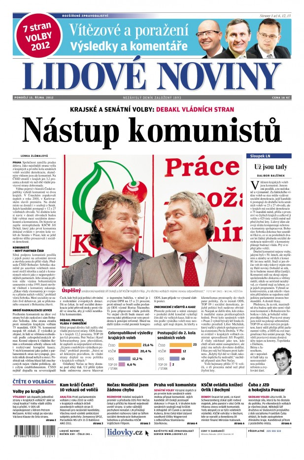 Lidové noviny 15. října 2012
