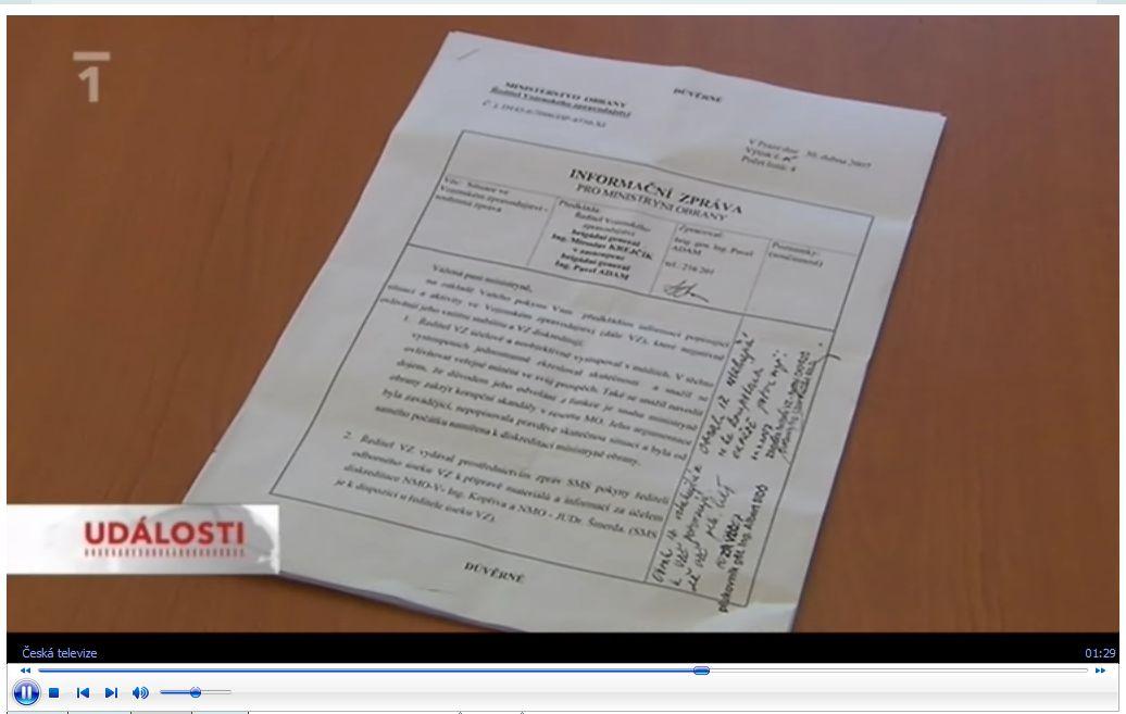 Dokument z Ro��nkovy report�e