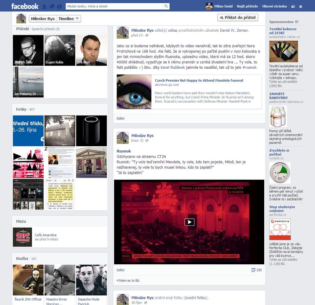 facebooková stránka Miloslava Rysa