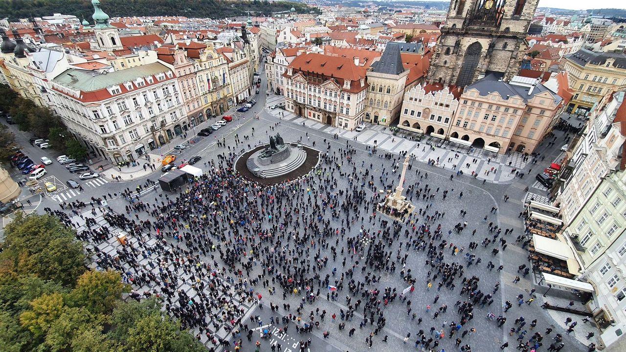 Staroměstské náměstí 18.10.2020 foto: Eugen Kukla