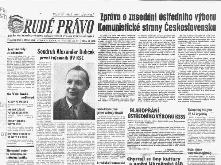 Rudé právo 6.1.1968