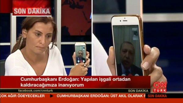 turecký prezident Erdogan mluví k národu v tureckém CNN