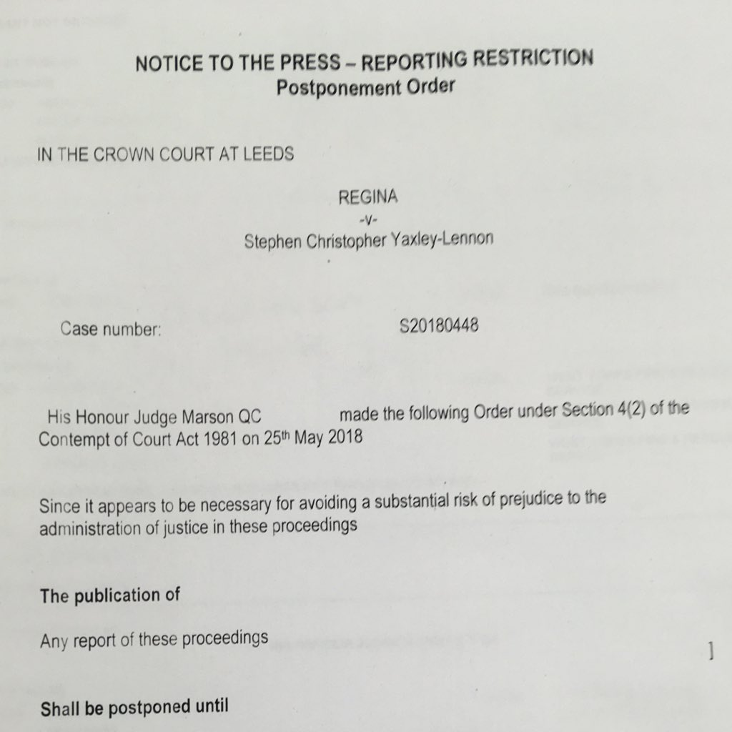 soudní rozhodnutí v případu Tommyho Robinsona