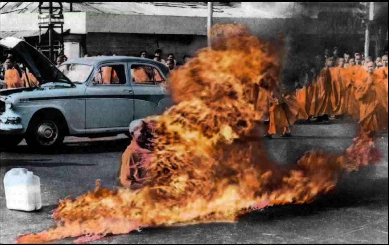 hořící mnich ve Vietnamu