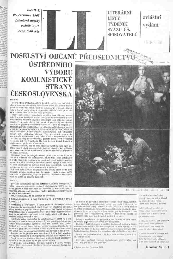 Zvláštní vydání LL 26.7.1968