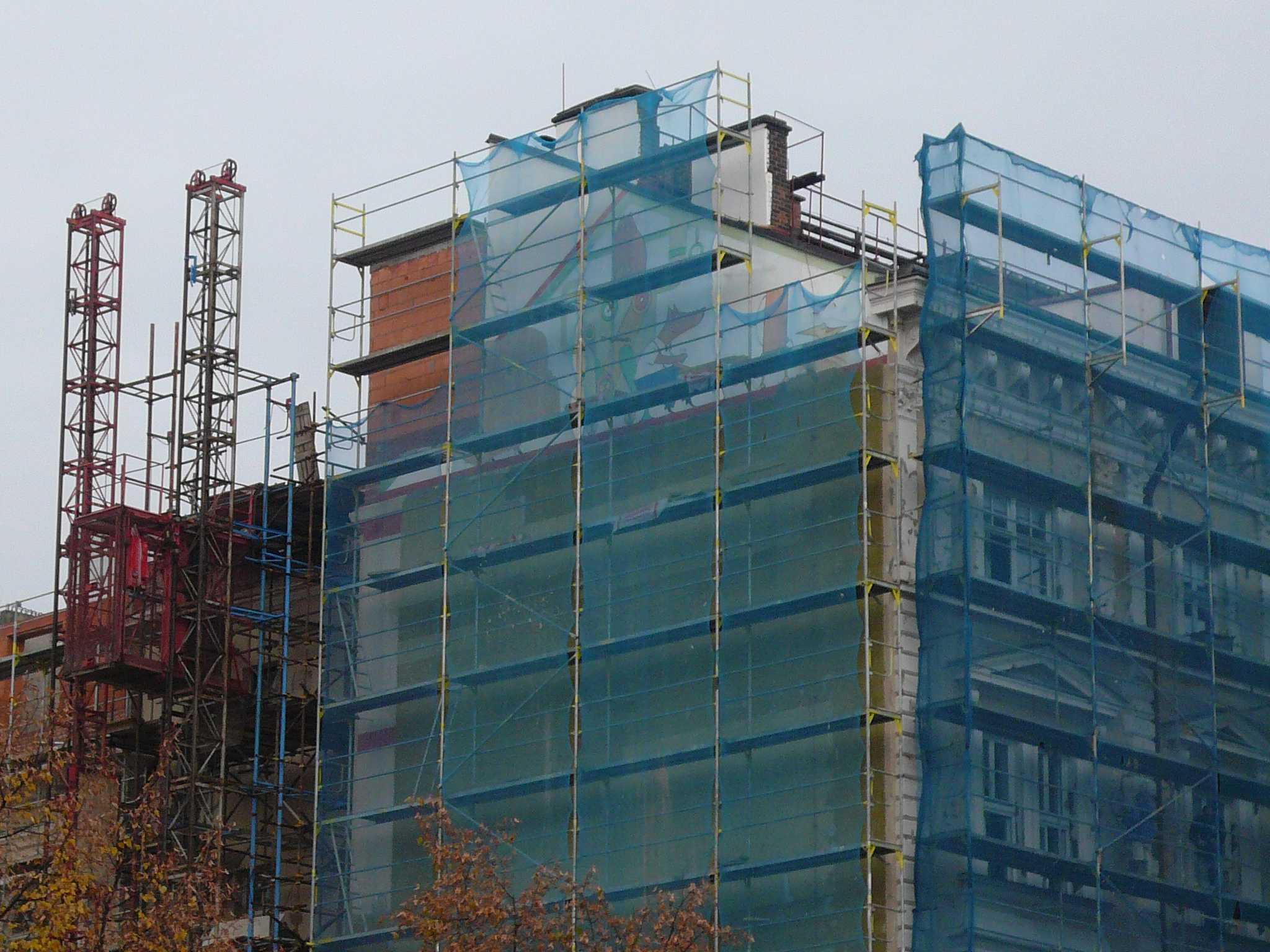 p�estavba budovy M욝ansk� Besedy - listopad 2007