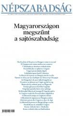 titulní strana deníku Népszabadság s nápisem