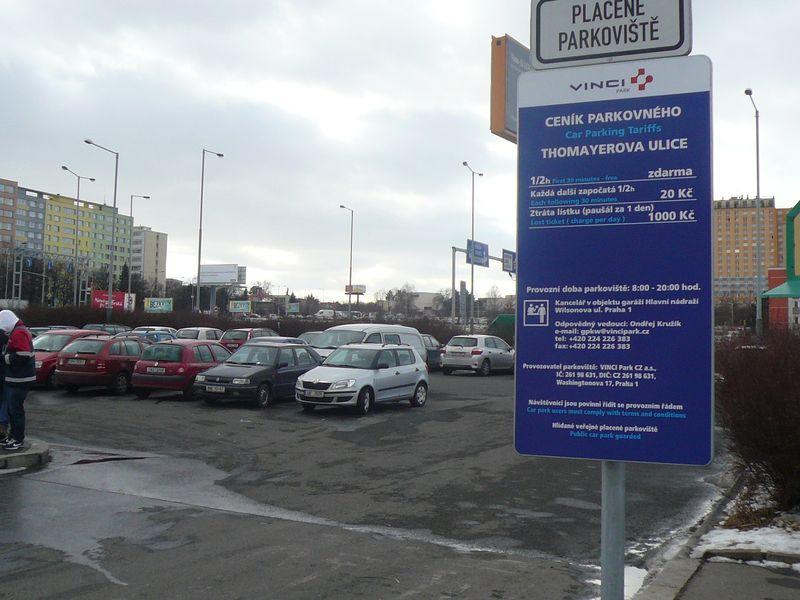 parkoviště Krč  16.2.2012