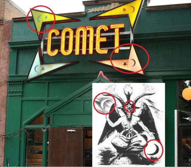 pizzerie Comet Ping Pong a údajně ďábelské symboly