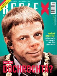 titulní strana týdeníku Reflex 1/2010
