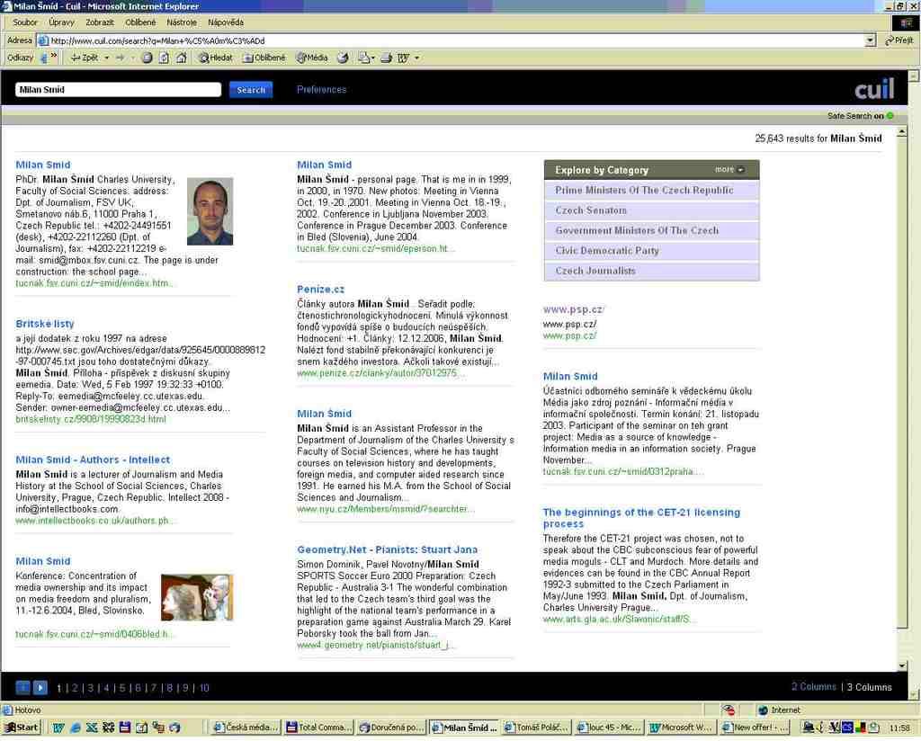 výsledek hledání na www.cuil.com, klik pro větší obrázek