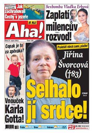 AhA! titulní strana úterý 9.8.2011