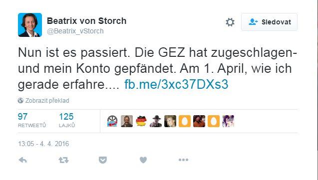 tweet Beatrix von Storch