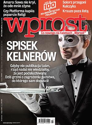 titulnĂ strana tĂ˝denĂku Wprost