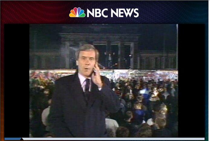 Tom Brokow NBC 9. listopadu 1989