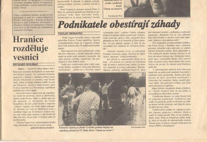 Prague Beat 1992 - článek Václava Moravce