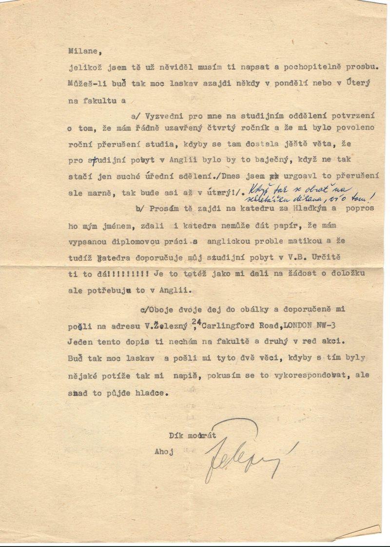 dopis pro M.Šmída od V. Železného, někdy z listopadu 1968