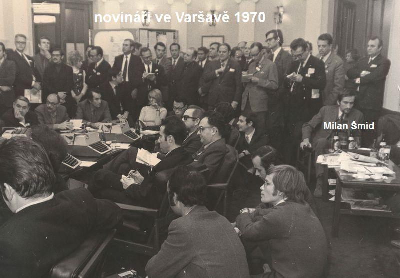 akreditovaní novináři na sjezdu PSDS ve Varšavě, rok 1970
