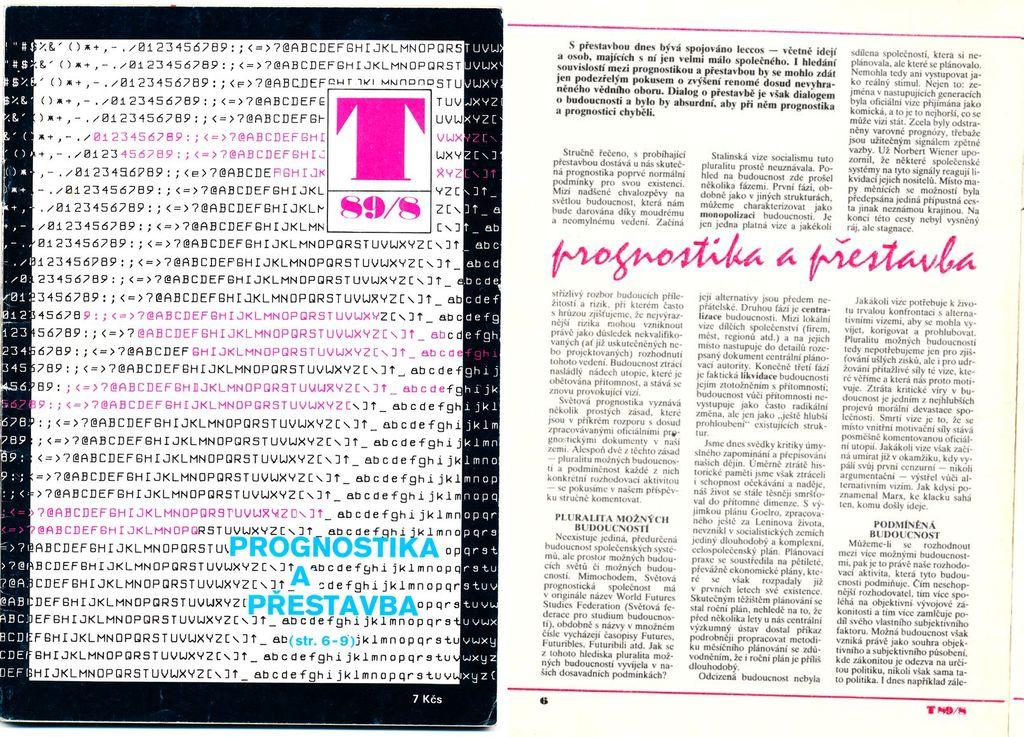 titulní strana Technického magazínu srpen 1989