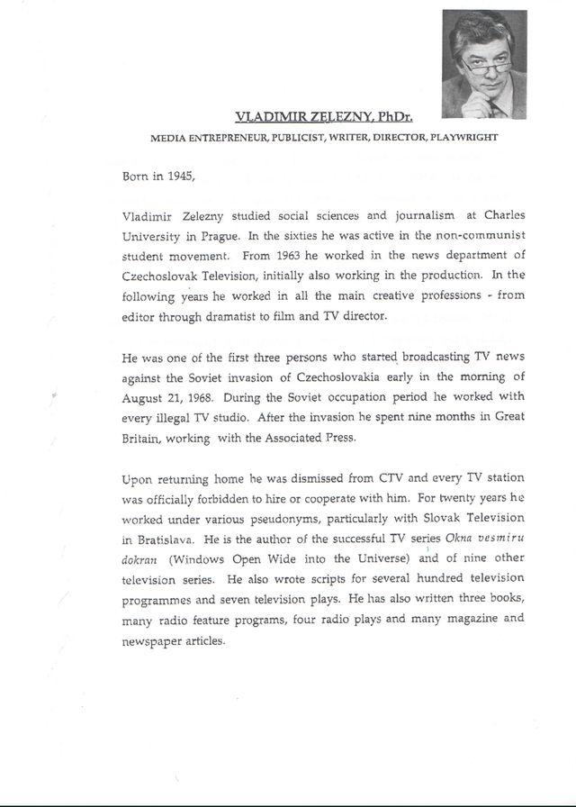 CV předložené na konverenci index s ve Varšavě - březen 1996